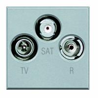 Розетка TV+FM+SAT 2 мод Axolute алюминий