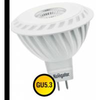 Лампа светодиодная 7 Вт 230В GU5.3 d=51mm, 60D тёплый белый 94 350