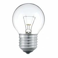 Лампа накал. шар 60 Вт, E27, прозрачный