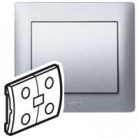 Клавиша для выключателя 2 клавишного алюминий In One