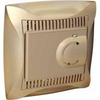 Термостат для теплого пола с датчиком от +5 до +50°C шампань Дуэт