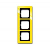 Рамка 3 поста цвет жёлтый Axcent