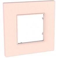 Рамка 1 пост  розовый жемчуг Unica Quadro