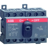 Реверсивный рубильник 40А 3-пол. OT40F3C для установки на DIN-рейку или монтажную плату (1SCA135430R1001)