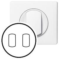 Накладка для выключателя/переключателя с рычажком 2 клавишного белый Celiane