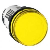 Лампа сигнальная желтая 24В AC/DC светодиод