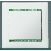 Рамка 1 пост белый/кристалл Valena