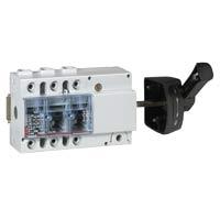 Выключатель-разъединитель 3-пол. 100А боковое управление, черная ручка, Vistop