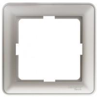 Рамка 1 пост матовый хром Wessen59