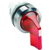 Переключатель (кор ручка) красный с подс  2-х поз (только корпус) 45# с фиксацией тип M2SS4-21R
