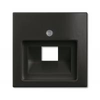 Накладка для розетки  телефонной/компьютерной шато черный Basic 55