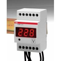 Вольтметр цифровой модульный прямого включения для измерения напряжения перемен.-постоян.тока с сигнальным реле серия VLMD1-2-R