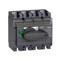 Выключатель-разъединитель 4-пол. 160А с черной ручкой INTERPACT INV160