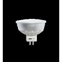 Лампа светодиодная 5 Вт 230В GU5.3 d=51mm, металл+пластик, холодный белый