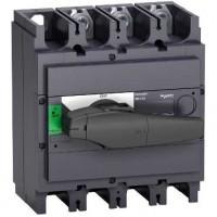Выключатель-разъединитель 3-пол. 630А с черной ручкой INTERPACT INS630