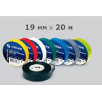 Изолента 19 мм х 20 м SafeLine ПВХ желто-зеленая