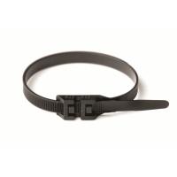 Хомут кабельный полиамид 6,0х290 мм гибкий с плоским замком (-60С+80С) черный(упак.100шт.)