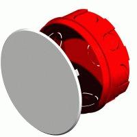 Коробка монтажная разветвительная 104х40 мм с крышкой для сплошных стен, IP 20