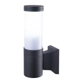 Светильник настенный 15Вт E27, черный IP44