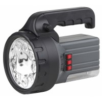 Фонарь-светодиод-прожектор, 10Вт+ГЛ+7Вт ЛЛ, аккумулятор 6В, 4,5Ah