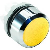 Кнопка желтая без подсветки без фиксации ( только корпус ) тип MP1-20Y