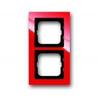 Рамка 2 поста цвет красный Axcent