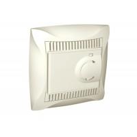Термостат для теплого пола с датчиком от +5 до +50°C бежевый Дуэт