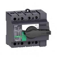 Выключатель-разъединитель 3-пол. 63А с черной ручкой INTERPACT INS63