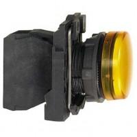 Сигнальная лампа жёлтая 22 мм со встроенной LED подсветкой 230- 240В АС