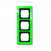 Рамка 3 поста цвет зеленый Axcent