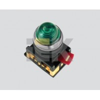 Индикатор светосигнальный неон/230В белый d 22мм цилиндр тип AL-22
