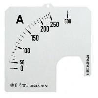 Шкала сменная для амперметра аналогового мод. AMT1/A1 на250А угол полной шкалы 90 град. SCL 1/A1/250 (замена на 2CSM110249R1041)