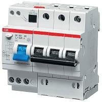 Автомат. выкл. дифф. тока 3-пол. 10А 30мА тип A 6кА хар-ка B серия DS200 А В