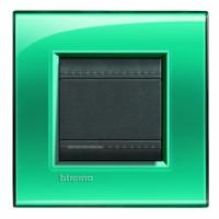 Рамка 2 модуля прямоугольная зеленый Living Light (Bticino)