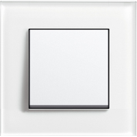 Рамка 1 пост белое стекло  ESPRIT