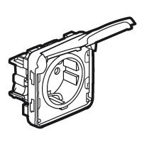 Розетка 2P+E 16А с крышкой встраиваемая с безвинтовыми зажимами, белый IP55 Plexo