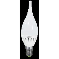 Лампа светодиодная 3,5 Вт 230В Е14 свеча на ветру, термопластик, холодный белый