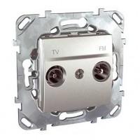 Розетка телевизионная TV-FM одиночная алюминий Unica Top