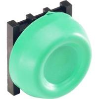 Кнопка зеленая с резиновым колпачком IP66 с монтажной колодкой тип KP6-40G