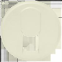 Накладка для розетки телефонной RJ11/12 слоновая кость Celiane