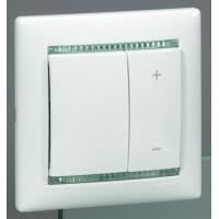 Светорегулятор  60-600Вт кнопочный белый Valena