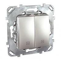 Выключатель для жалюзи алюминий Unica Top