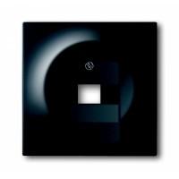 Накладка для розетки телефонной/ компьютерной  черный бархат impuls