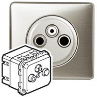 Механизм розетки телевизионной 2-х кабельная TV+FM+SAT 2400 МГц Celiane