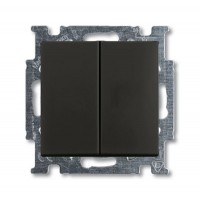 Выключатель 2-клавишный  шато черный Basic 55