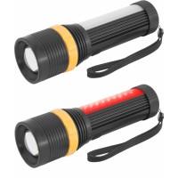 Фонарь-светодиод 1LED=3Вт+20LED белый/10LED красных 3хAAA дальность 150м