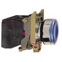 Кнопка синяя 22 мм 1НО+1НЗ со встроенной LED подсветкой 230- 240В с возвратом