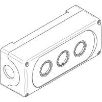 Корпус кнопочного поста MEP-3-0 на 3 элемента пластиковый