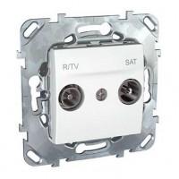 Розетка телевизионная TV-R-SAT оконечная белый Unica