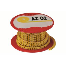 Колечко маркировочное N, 2.5-4мм. черное на желтом